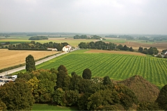 Waterloo Battlefield from the Lion Mound