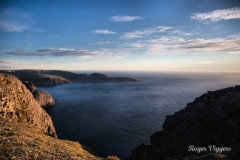 North Cape, Norway. The coast westwards
