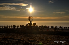 North Cape, Norway. The sun not setting
