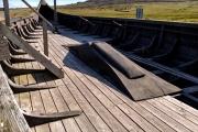 Replica Viking longboat near Haroldswick.