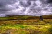 Standing stone Lund, Unst, Shetlands.