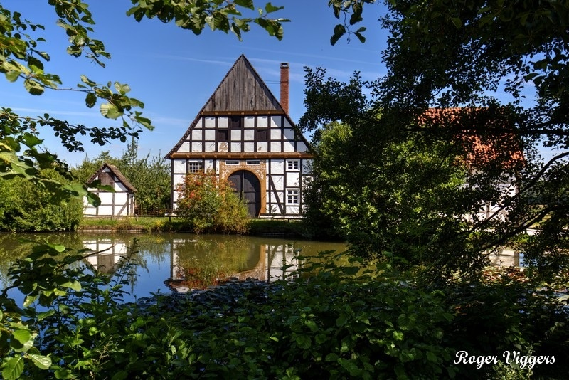 The Ludovici house overlooks the village pond.
