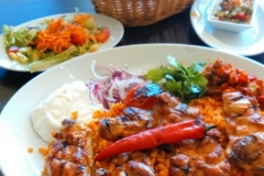 Chicken Cutlet lunch at Alanya Restaurant, Hannover