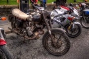 Panther motorcycle. The uniques feagture of this marque was the slopinmg cylinder which formed part of the frame.