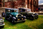 """1929 Ford Model A and a Morris Oxford.The Oxford was known as the """"bullnose"""" while the Ford was imported from the USA in the 1950s by the present owner's father."""