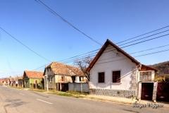The main road through Mosna, Romania