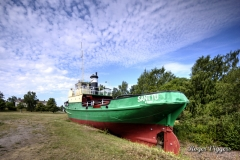 Beached tug, Reposaari, Finland