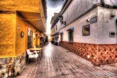 Calle Barcelo, narrow streets in thr old parts of San Luis De Sabinillas