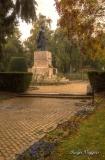 Statue of Vasile Lucaciu, Piata Libertatii, Santu Mare, Romania.
