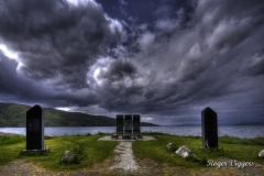 Krigs Monument Narvik 1940 at Ankenesstrand