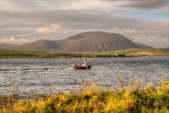Fishing boat in Hoy Sound.
